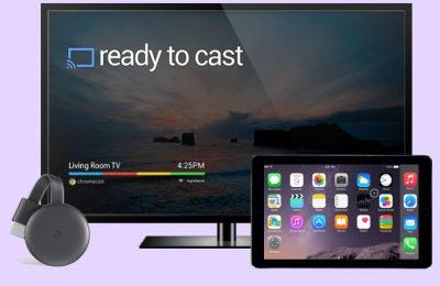 TV and chromecast , ipad